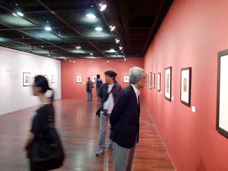 Visitors at the Sejong Cultural Center in Seoul Korea