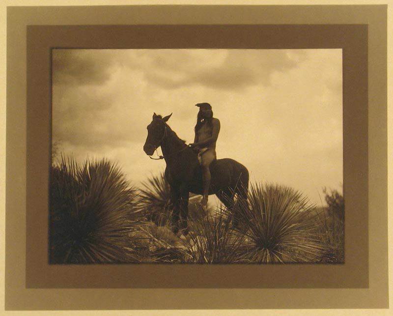 The Scout Apache 1906 Toned Gelatin Silver printed border